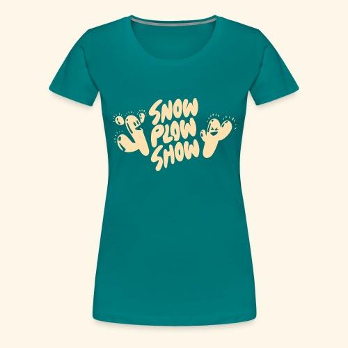 Yati M's Snow Plow Show White Logo 1 - Women's Premium T-Shirt
