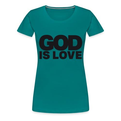 God Is Love - Ivy Design (Black Letters) - Women's Premium T-Shirt