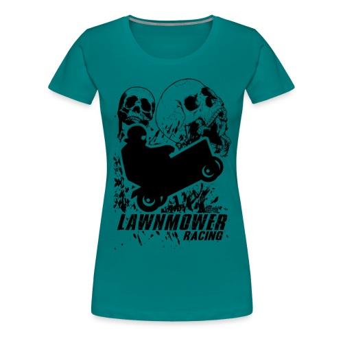 Lawnmower Race Cranial Scream - Women's Premium T-Shirt