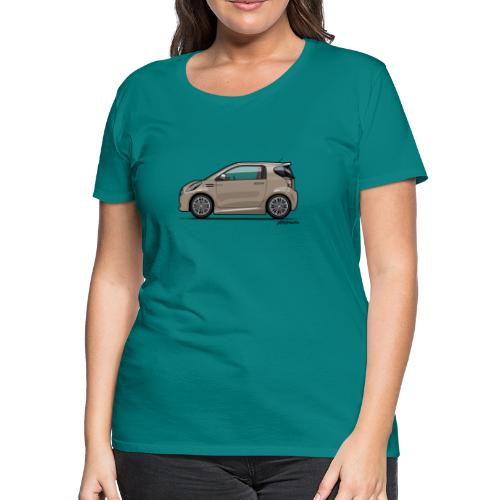 AM Cygnet Blonde Metallic Micro Car - Women's Premium T-Shirt