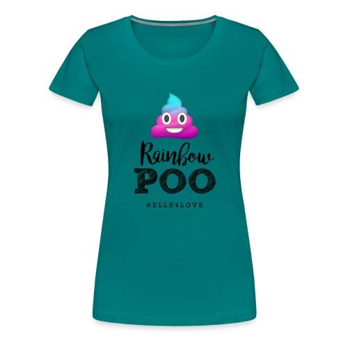 Rainbow Poo - Women's Premium T-Shirt