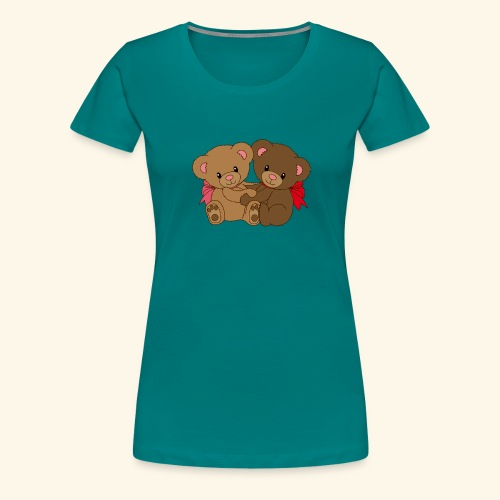 Bears Hugging - Women's Premium T-Shirt