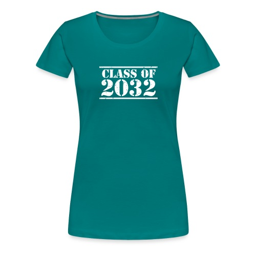 Class of 2032 Kindergarten Grad distressed logo - Women's Premium T-Shirt