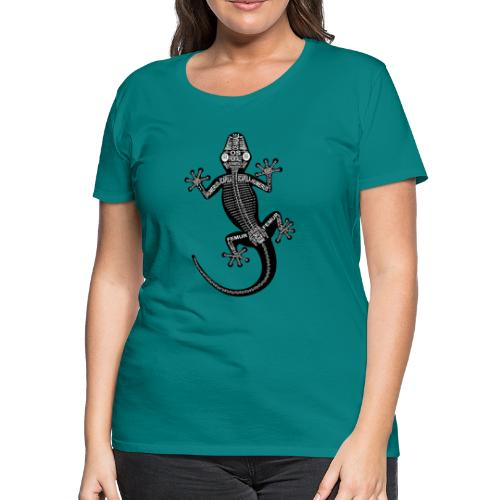 Skeleton Gecko - Women's Premium T-Shirt