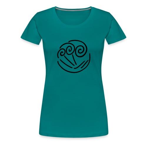 wave illustration surf surfing sea water present - Women's Premium T-Shirt