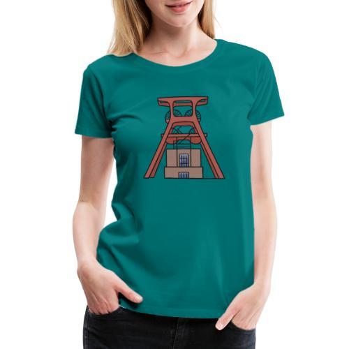 Zollverein Coal Mine Industrial Complex in Essen - Women's Premium T-Shirt