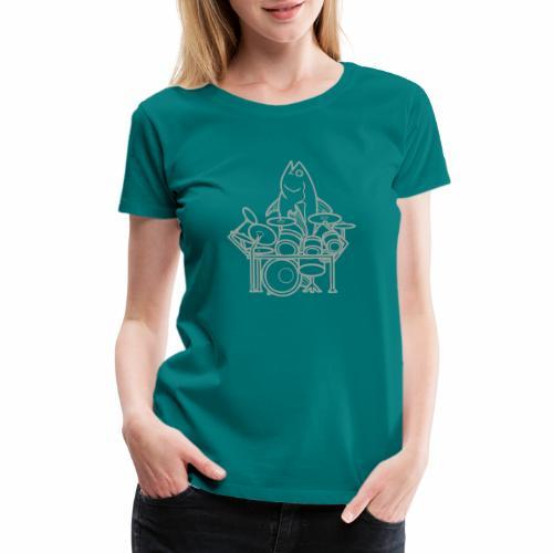 fishsolooutline - Women's Premium T-Shirt