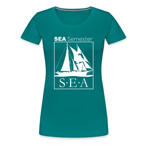 SEA_logo_WHITE_eps - Women's Premium T-Shirt