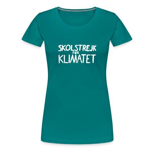 Skolstrejk foer klimatet - Women's Premium T-Shirt
