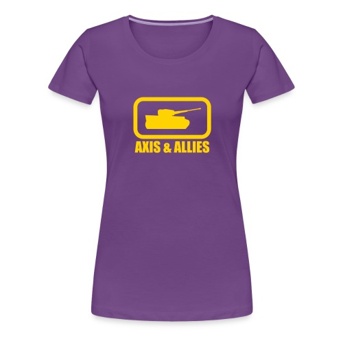Tank Logo with Axis & Allies text - Multi-color - Women's Premium T-Shirt