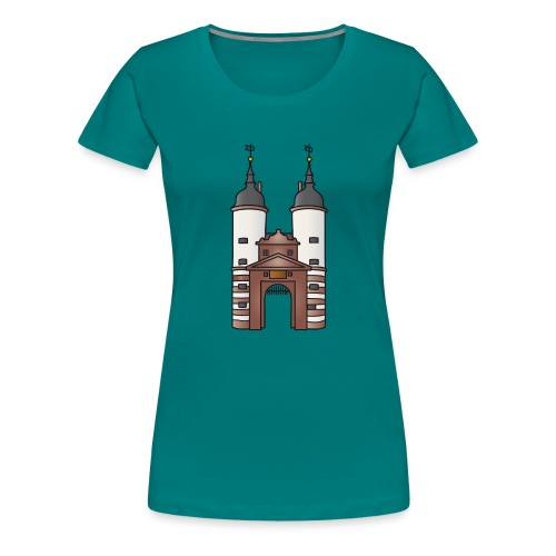 Bridge gate Heidelberg, FRG - Women's Premium T-Shirt