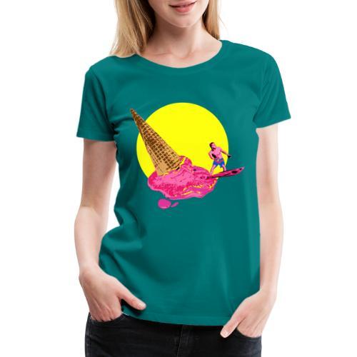 ice cream surfer - Women's Premium T-Shirt