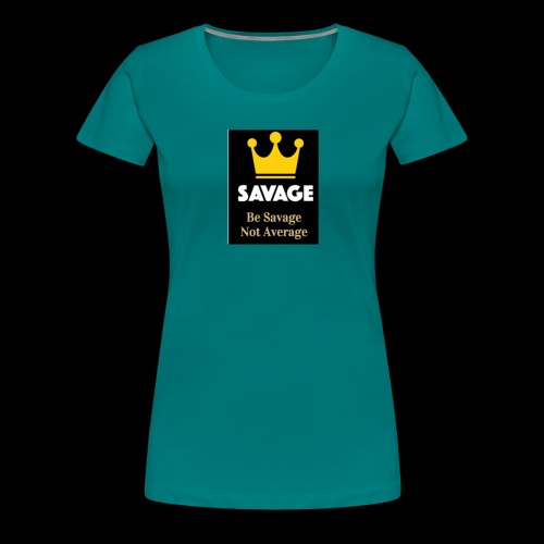 savage not average MENS tee - Women's Premium T-Shirt