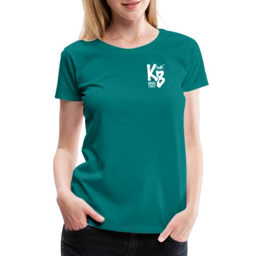 Kure Beach Day-White Lettering-Front and Back - Women's Premium T-Shirt