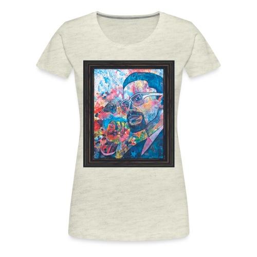 Malcolm X by Sherwin Long - Women's Premium T-Shirt