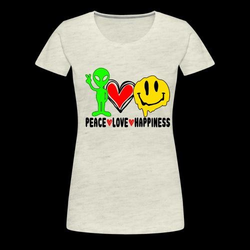 Peace Love Happpiness - Women's Premium T-Shirt