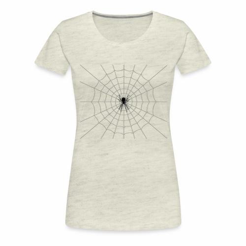 Black Widow on Web - Women's Premium T-Shirt