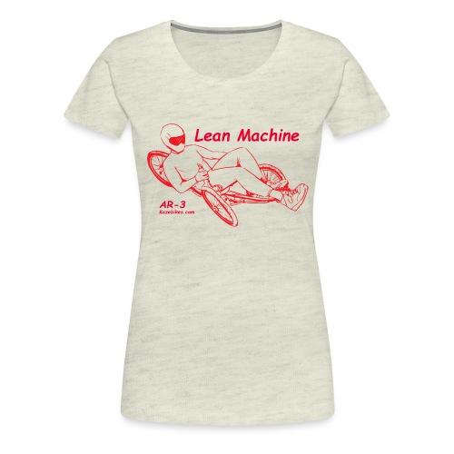 Lean Machine AR-3 all Red Logo Shirt - Women's Premium T-Shirt