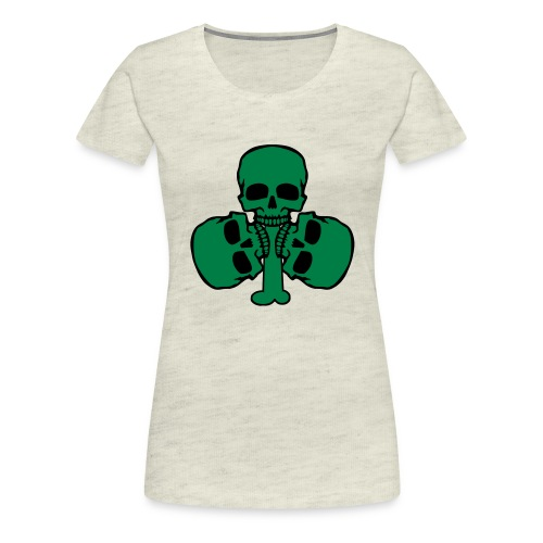 Skull Shamrock w/ Teeth - Women's Premium T-Shirt