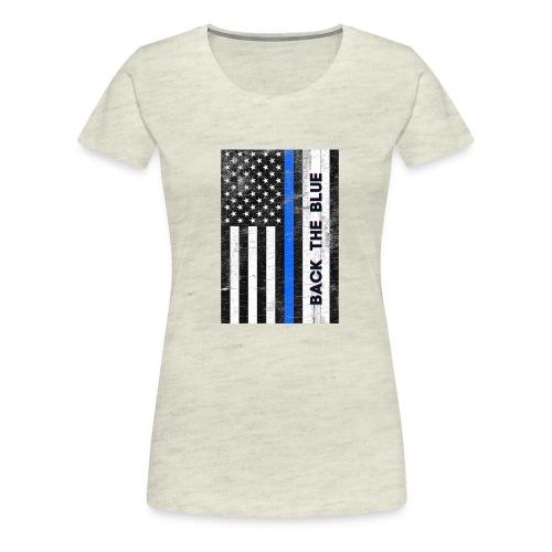 BACK THE Blue Police Officer USA - Women's Premium T-Shirt