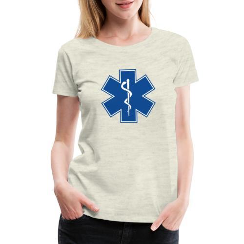 EMT Health Care Rod of Asclepius Medical Symbol - Women's Premium T-Shirt