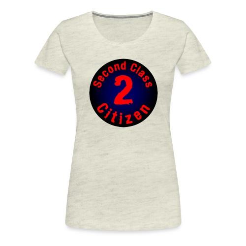 2nd Class Citizen Logo (Dark) - Women's Premium T-Shirt
