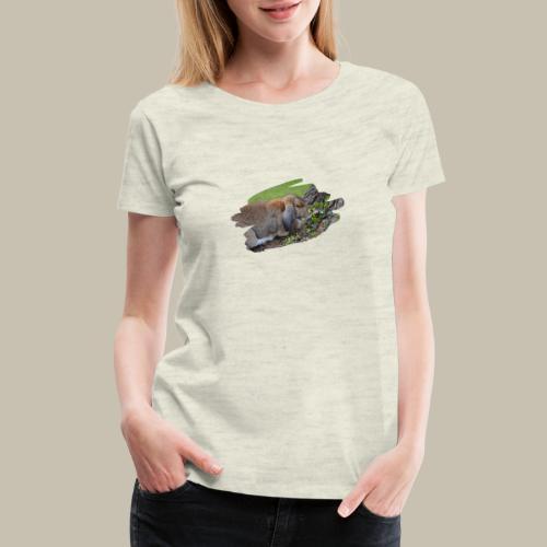 French Lop Brush Stroke - Women's Premium T-Shirt