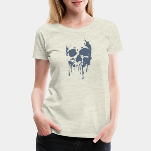 skull blood - Women's Premium T-Shirt