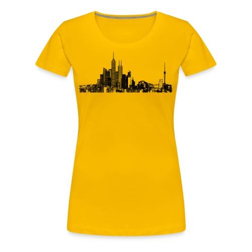 Pencil style city skyline - Women's Premium T-Shirt