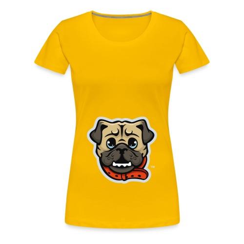 Pug_Mascot_WhiteBG - Women's Premium T-Shirt