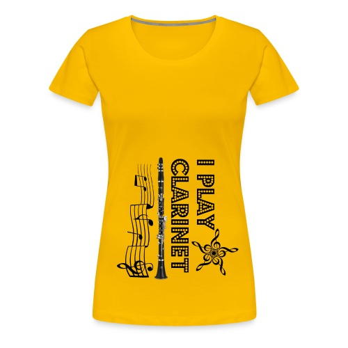 i play clarinet - Women's Premium T-Shirt