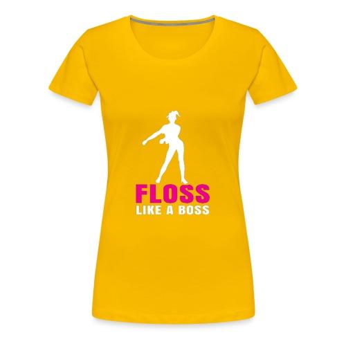 the floss like a boss shirt - water flosser - Women's Premium T-Shirt