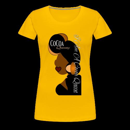 Cocoa Queen Earth Tone and Black Head Tie - Women's Premium T-Shirt