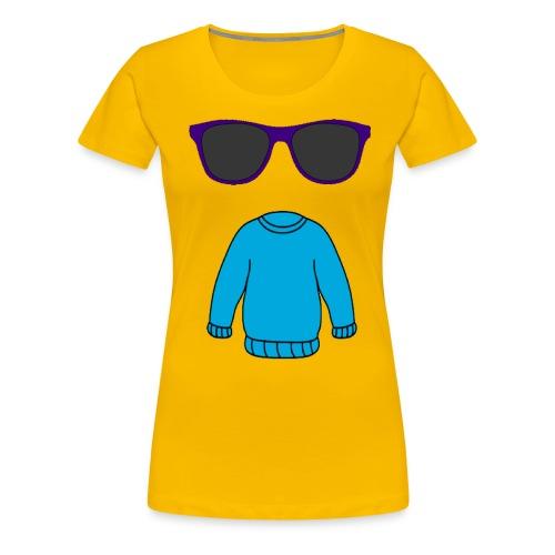 sweater glasses - Women's Premium T-Shirt
