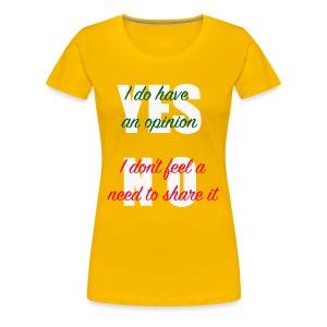 yesno - Women's Premium T-Shirt