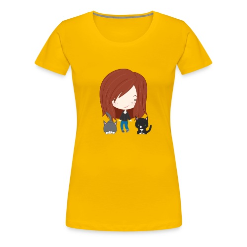 gracie and cats - Women's Premium T-Shirt
