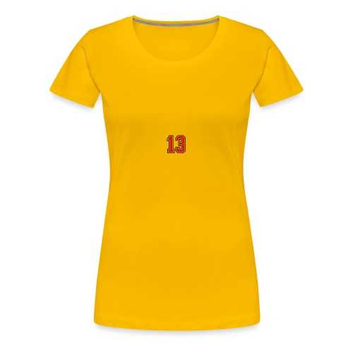 13 sports jersey football number1 - Women's Premium T-Shirt