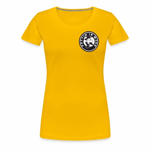 Solid Puttin' In Work Logo - Women's Premium T-Shirt