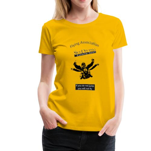 Flying Association Sky Diving Extreme Sport - Women's Premium T-Shirt