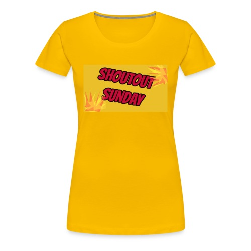 SHOUTOUT Sunday Merch - Women's Premium T-Shirt