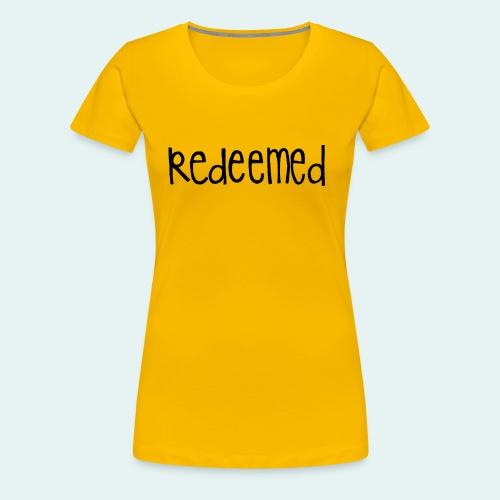 Handwritten REDEEMED Design - Women's Premium T-Shirt