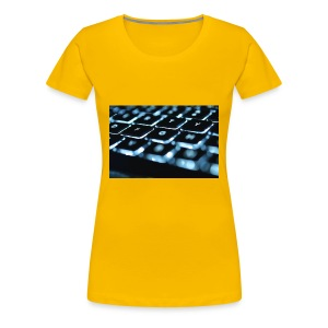 Glowing Keyboard - Women's Premium T-Shirt