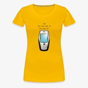 Old School Cell Phone Message - Women's Premium T-Shirt