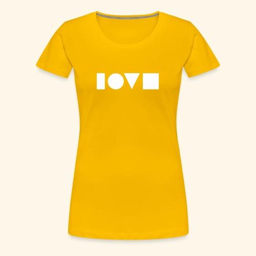 The Shape of Love - Women's Premium T-Shirt