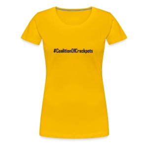 Coalition of Crakpots T-shirts Tees and Products - Women's Premium T-Shirt