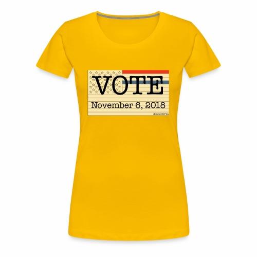 VoteNov62018 - Women's Premium T-Shirt