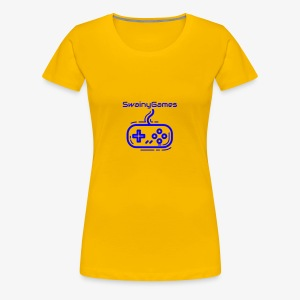 SwainyGames-Blue - Women's Premium T-Shirt