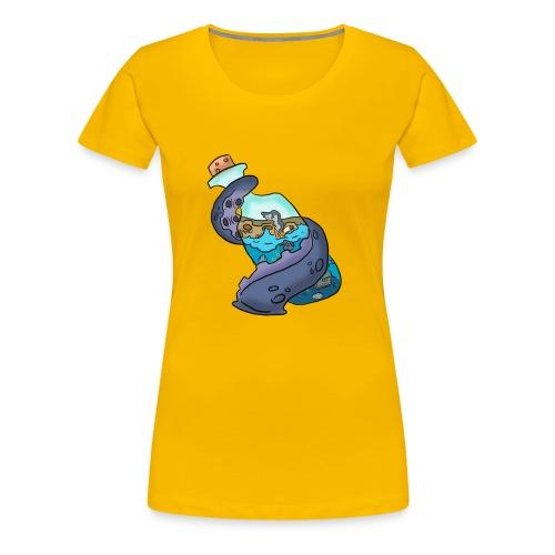 Tentacle on a bottle - Women's Premium T-Shirt