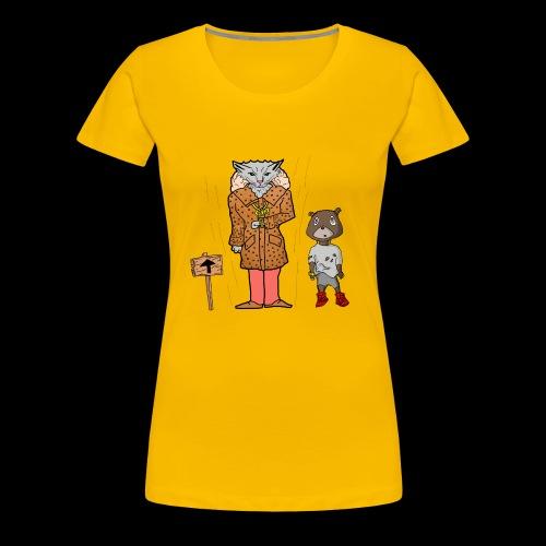 Tomkat Larry Only Pimps Tan Leather Ostrich Parka - Women's Premium T-Shirt