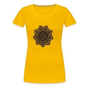 Flower Drawing - Women's Premium T-Shirt